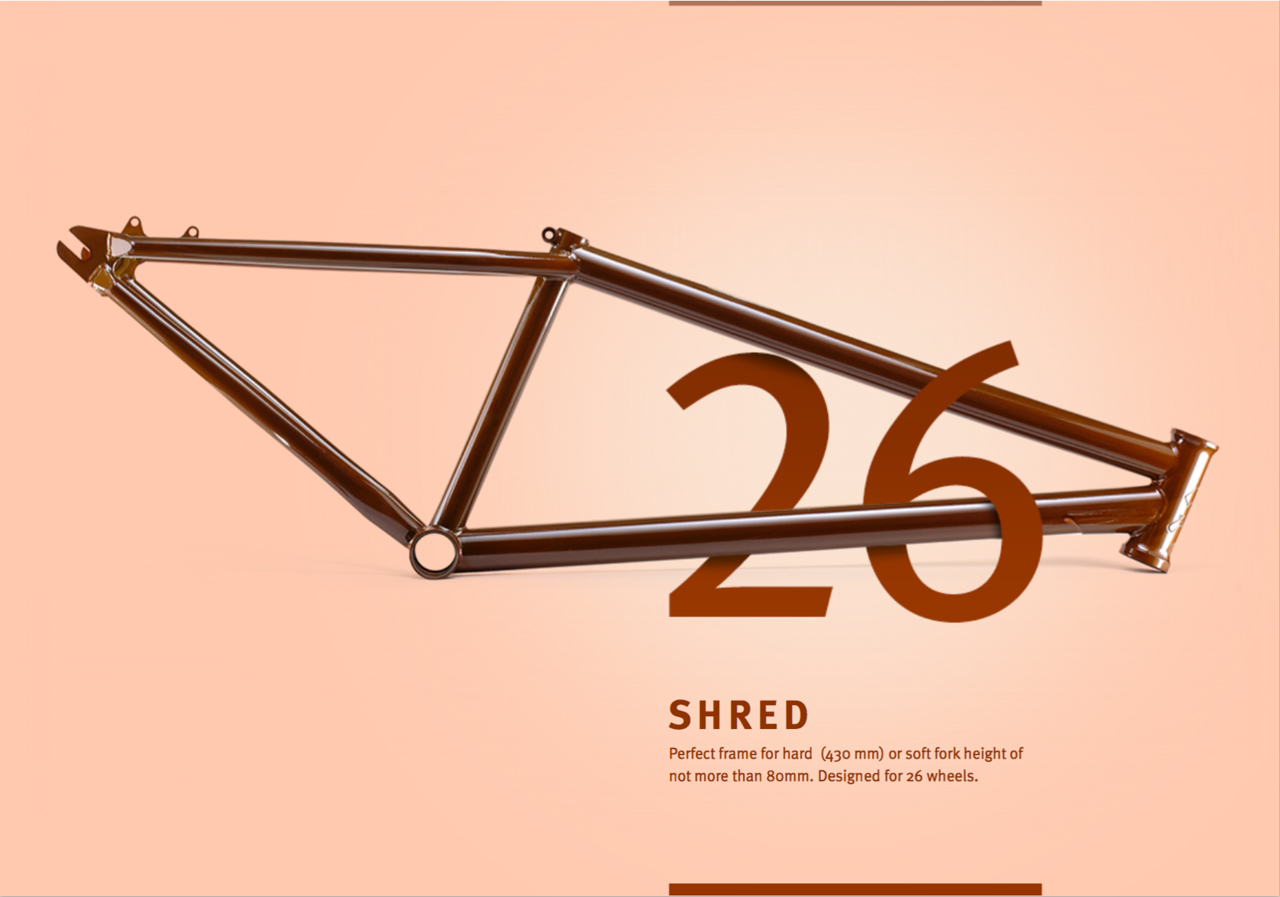 Pride-Street Shred Frame 26""